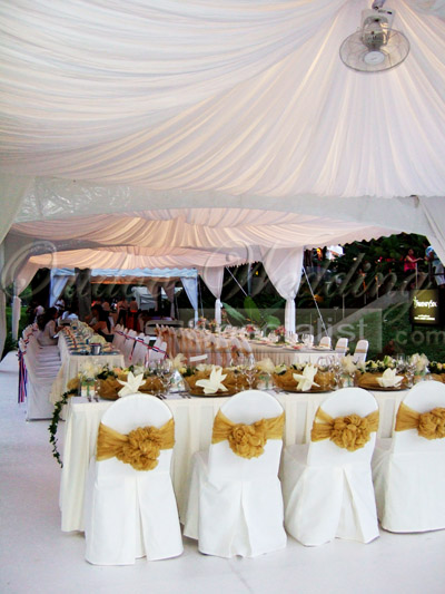 Imagine guests at your wedding seated here