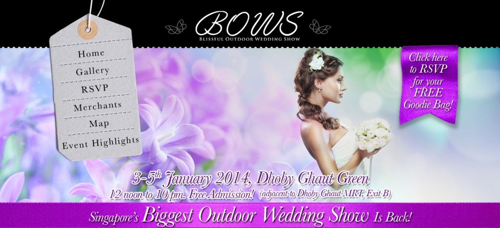 Blissful Outdoor Wedding Show 2013 Jan